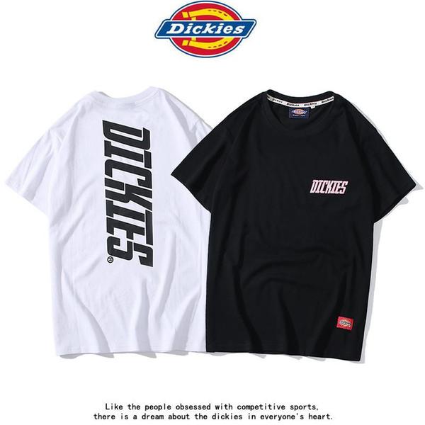 Avrupa ve Amerika Birleşik Devletleri gelgit marka DK göğüs mektubu kısa kollu imparator yuvarlak boyun T-shirt erkekler ve bayan modelleri 2019 yaz rahat hal