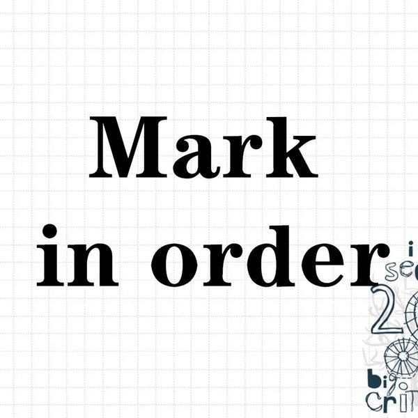 sipariş işareti