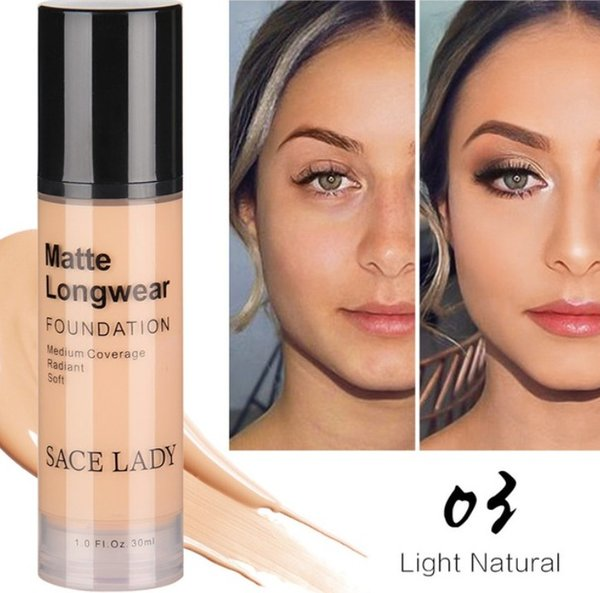 DHL Free Face Foundation Makeup Pro Perfect Concealer Base Make Up For All Skin Matte Cream Oil Control Liquid Best Natural Cosmetic 30ml