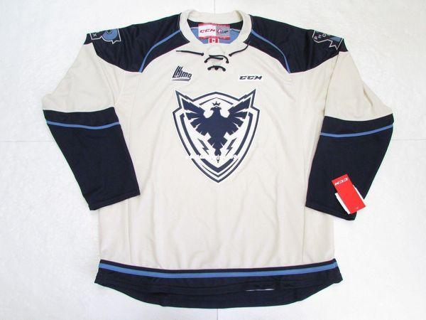 Barato costume SHERBROOKE PHOENIX CCM PREMIER 7185 HÓQUEI JERSEY ponto adicionar qualquer número qualquer nome Mens Hockey Jersey XS-6XL