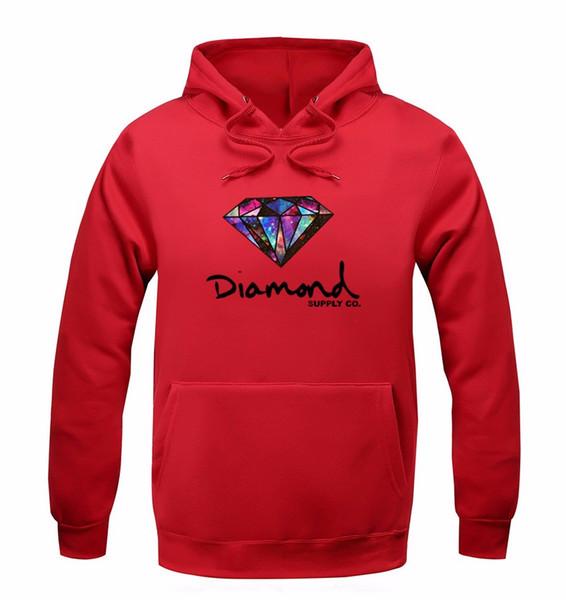 2019 Diamond supply co hombres sudadera con capucha mujer calle polar cálido sudadera invierno otoño moda hip hop primitivo suéter al por mayor