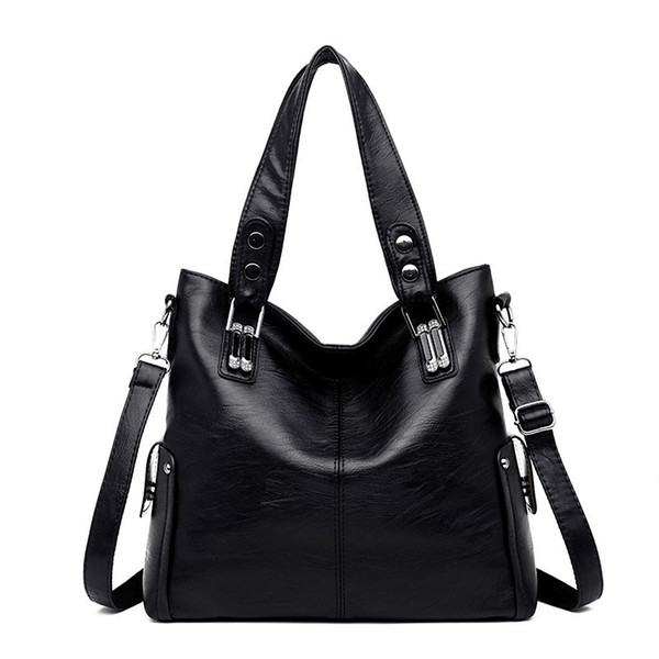 Luxury Handbags Women Bags Designer Genuine Leather Large Tote Bag For Women Leather Handbags Shoulder Crossbady Bag Y19061705