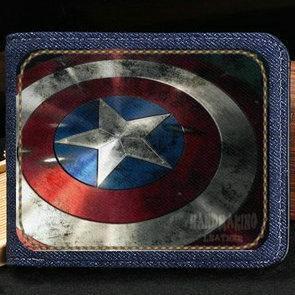 Portefeuille bouclier porte-monnaie Captain America Porte-billets héros Steve Rogers billets de banque billets de banque billets de banque
