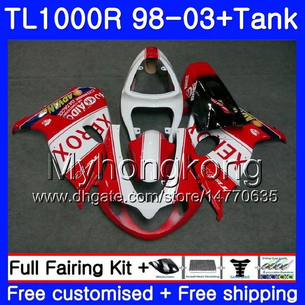 +Tank For SUZUKI SRAD TL1000R 1998 1999 2000 2001 2002 2003 304HM.37 TL 1000R stock red frame TL1000 R TL 1000 R 98 99 00 01 02 03 Fairing
