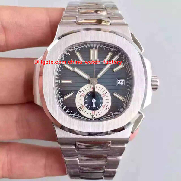 9 style selling 40.5mm nautilus 5980 5980/1a-014 chronograph cal.ch 28-520 c 7750 movement automatic mens watch watches