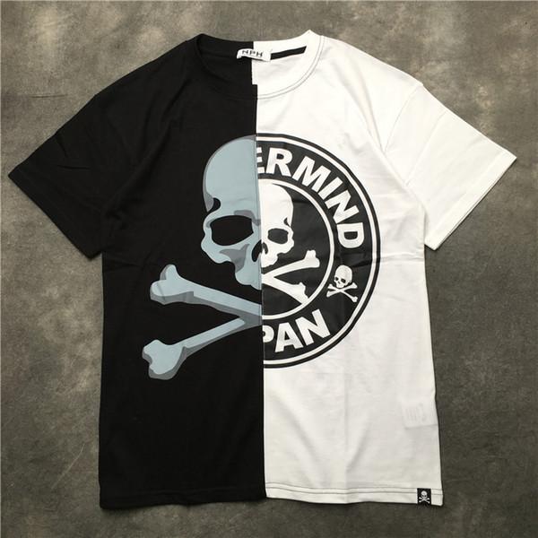 Yeni Yüksek 2019 Punk Erkekler Moda T Shirt Kafatası Canavar T-shirt Hip Hop Kaykay Sokak Pamuk T-Shirt Tee Üst # j23