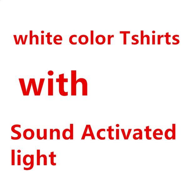Camisetas blancas, + sonido activado luz