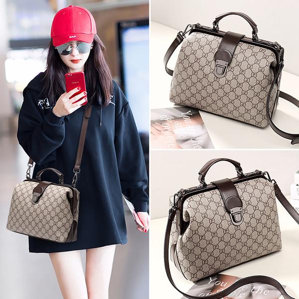 Новая женская сумка 2019 новая весенняя и летняя модная тенденция дикий одно плечо перекинул сумочку персонализированный доктор сумка1