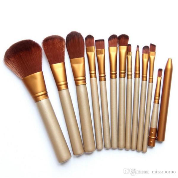 HOT N3 Pinceles de maquillaje 12 piezas Conjuntos de pinceles profesionales Marcas Maquillaje en polvo Herramientas de belleza Kits de pinceles cosméticos con caja de hierro al por menor