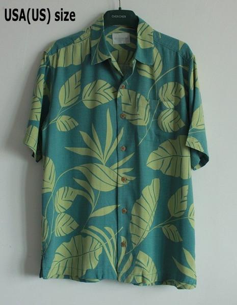 Four Colors Mens Shirts 100% Silk Printed Shirt Men Floral Short Sleeve Hawaii Shirt Casual Summer Beach Fashion Plus Size Male