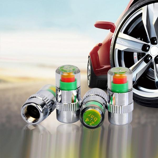 4PCS/pack Visiable 2.4bar 36PSI Car Tire Air Warning Alert Tyre Pressure Sensor Monitor Valve Cap Indicator Alert Auto Diagnostic Tool