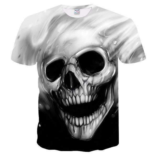 YFFUSHI 2019 Hombre 3d T Shirt Moda Skull Print 3d T shirt Hombres Hip Hop Verano Hip Hop Tops Tees Overiszed Rock Cool