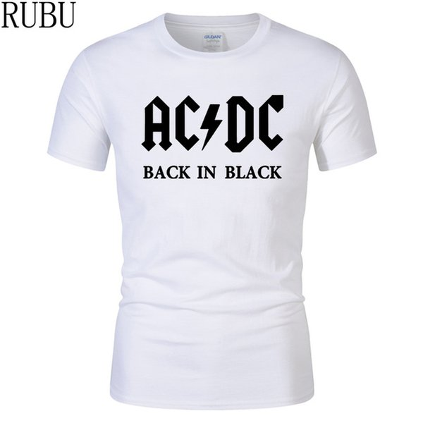 2019 Womens luxury designer t shirts New style Hot sell cotton Tees AC DC Brand Men T-shirt Metal Rock Band Printing T Shirts