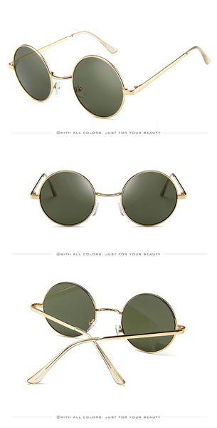CAI xukun sunglasses fashion metal sunglasses round frame retro gradient glasses web celebrity trend sunglasses