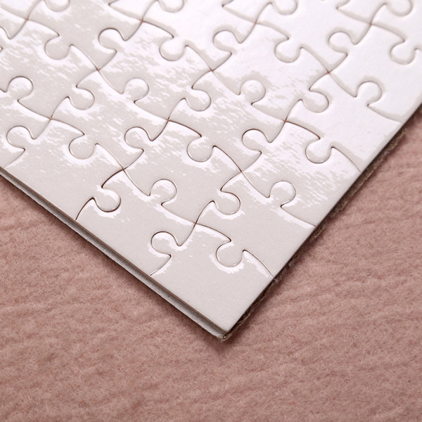 top popular Fedex A5 size DIY Sublimation Puzzles Blank Puzzle Jigsaw Heat Printing Transfer Local Return Gift 1 pc 2020