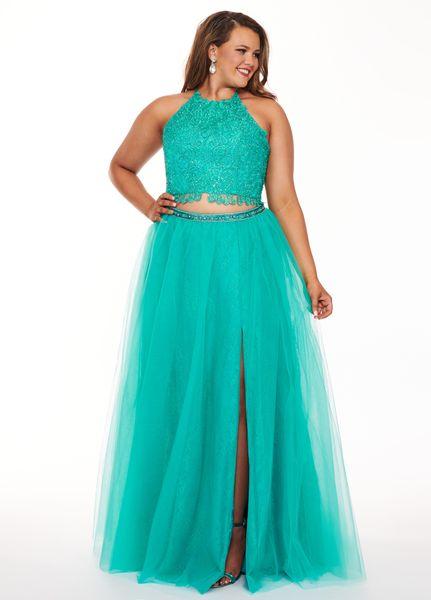 Modest Plus Size Cheap Prom Evening Dress 2019 Aqua Blue Two Pieces Lace  Applique Tulle Side Split Special Occasion Formal Party Dresses Vintage  Lace ...