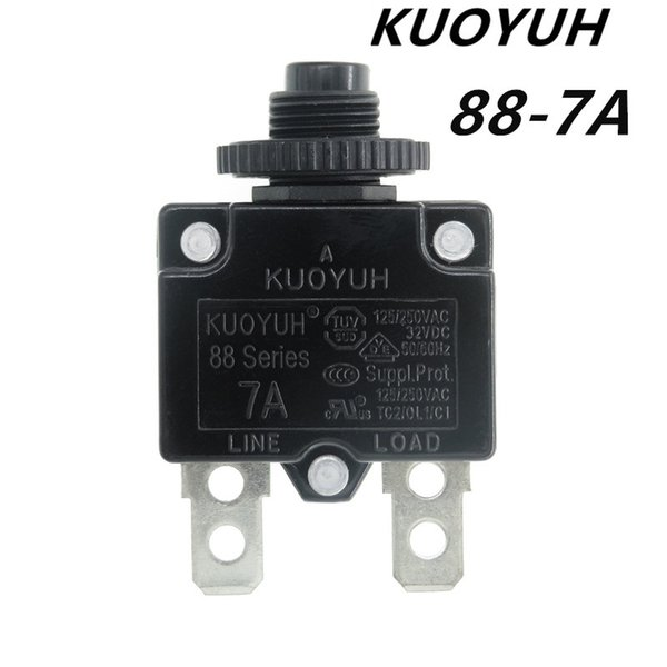 best selling Taiwan KUOYUH Overcurrent Protector Overload Switch 88 Series 7A