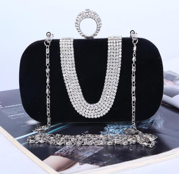 حقيبة الماس على شكل U-الوردي Sugao مصمم مساء من الدرجة الاولى متعدد الألوان حقيبة الفاصل النساء عشاء حقيبة الفاصل النساء الكتف واحد