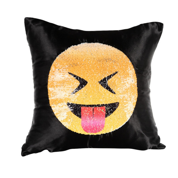 Soft Emoji Round Cushion Home Textile Pillow Case Emotions Home Pillow Cushion Cover Sofa Plush Adults Childs Like