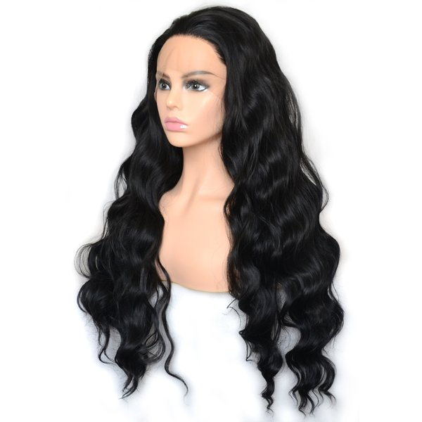 1b loose deep curly synthetic lace front long wig high 150% density heat resistant synthetic hair wigs cosplay daily wearing for women