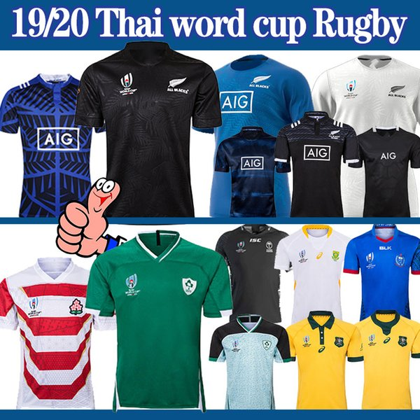 top popular rugby world cup Ireland Japan Australia South Africa fiji Jersey New Zealand 2019 new men nrl rugby shirt S-5xl thailand 2019