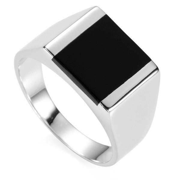 best selling SHUNXUNZE Black Resin 925 Sterling Silver fashion finger engagement wedding vintage Rings For Men vintage S-3775 size 6 7 8 9 10 11 12 13