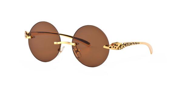 2019wood sunglasses for men unisex buffalo horn glasses mens women brand designer rimless sun glasses silver gold metal WOOD frame Eyewear