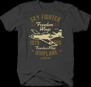 Sky Fighter Freedom Wings Ringe für Fearless Airplane Pilot Tshirt