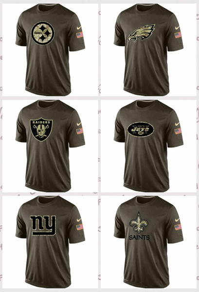 new arrivals 9e176 e7d30 New Orleans Sints New York Gints New Yok Jets Oaklnd Raiders Phiadelphia  Eagles Pittsbrgh Steelers Salute To Service T Shirt Interesting Tee Shirts  ...