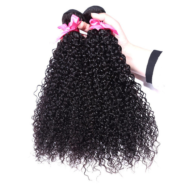 8-28 Inch Best Selling Soft High Kinky Curly Black Virgin Human Hair Hair Extension Hair Wefts