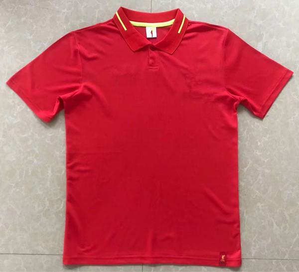 top popular 2018 GERRARD M SALAH FIRMINO LALLANA HENDERSON Golf T-Shirts 18 19 M.SALAH COUTINHO MANE STURRIDGE Football polo t-shirts 2019