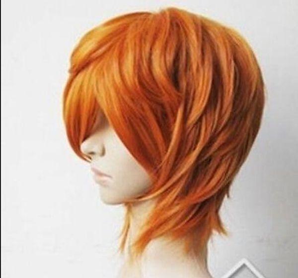 WIG LL FSX59824>>New ! Diao Daiwa Angel Brief Orange Blonde Short Cosplay Party Wig