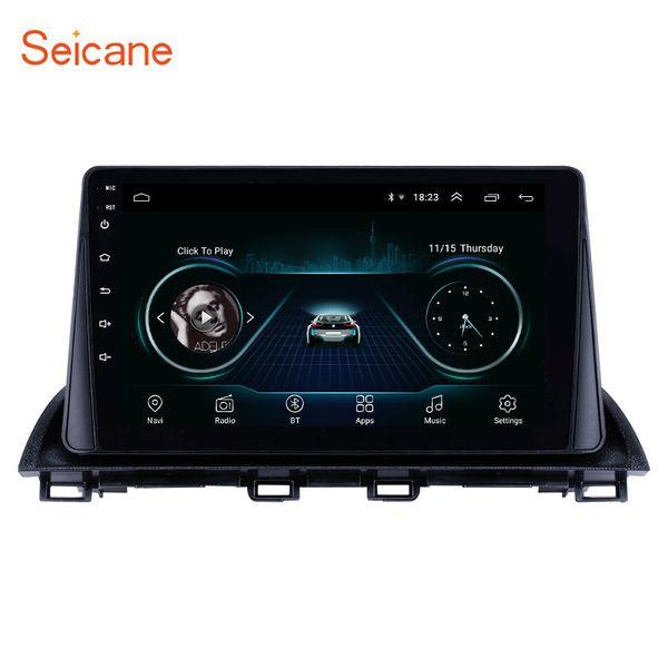 9 Zoll Android 8.1 GPS Navi Autoradio für 2014 2015 Mazda 3 Axela mit Bluetooth WIFI USB Musikunterstützung Lenkradsteuerung TPMS DVR