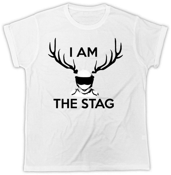 I Am The STAG T Shirt Funny Novelty Stag Party Hen Night T-shirt Uomo Stampa Cotone O Neck Camicie Top Tee