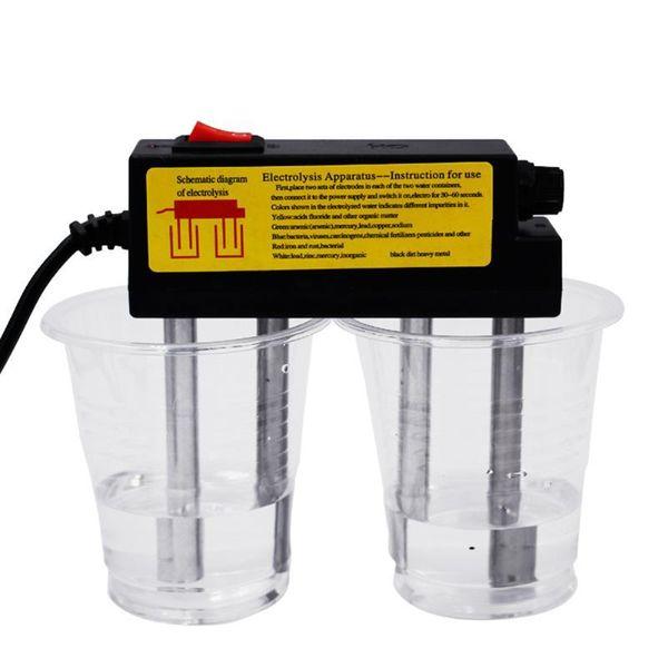 top popular 220V Electronic Water Tester Household Quick Water Quality Testing Electrolyzer Iron Bar Electrolysis EU plug US plug 2021