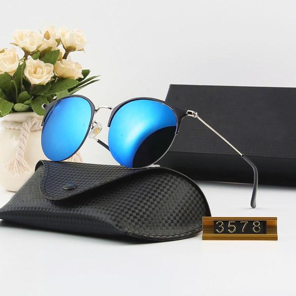 고품질 망 여자 기울기 조종사 선글라스 안경 디자이너 Vassl 태양 안경 골드 프레임 파란색 유리 렌즈