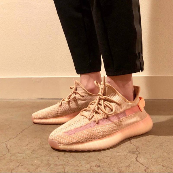 New black Clay chaussures Butter Cream White Beluga Kanye West Men women Running Shoes Sports Sneakers With Box and Key Chain Size36-47