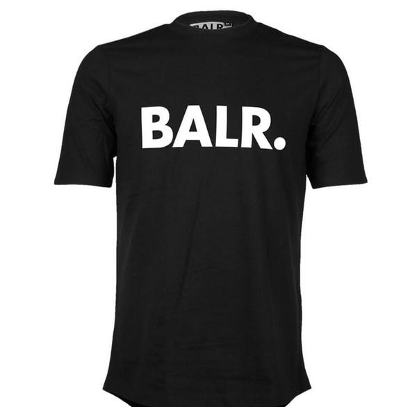 Balr klasik t gömlek siyah pamuklu kısa kollu BALR streetwear tişörtleri yuvarlak tabanlı bluz O-boyun t shirt marka giyim yaz D20 mens