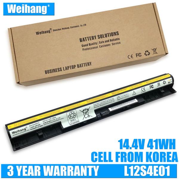 2900mAh batterie L12S4E01 de Weihang Corée pour Lenovo IdeaPad G400s G405s G410s G500s G50ss G510s S410p Z710 S510p L12L4A02