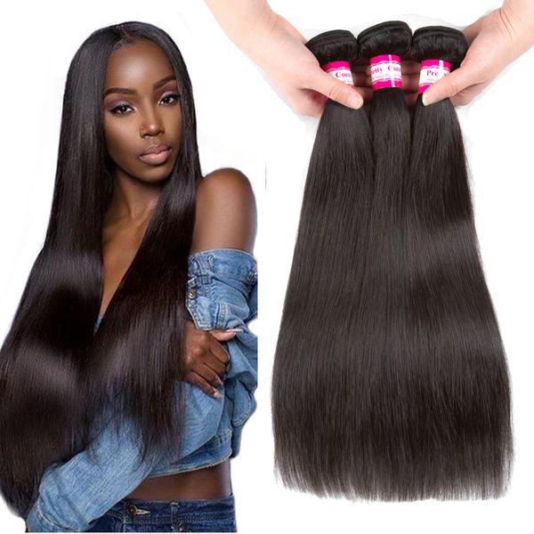 Pretty Coco Brazilian Virgin Straight Hair Wefts 3/4/5 Bundle Unprocessed Malaysian Filipino Peruvian Indian Remy Human Hair Weaves Straight