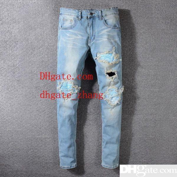 Mens Designer Pants New Fashion Mens Designer Jeans Lightweight Jeans Men s Large Size Fashion Casual Solid Mens Jeans