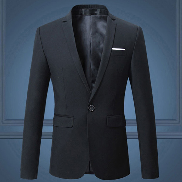 2019 Autunno uomini nuovi giacca Blazer uomini d'affari causale Suit / manica lunga maschile giacca completa giacca cappotto giacca 7.8
