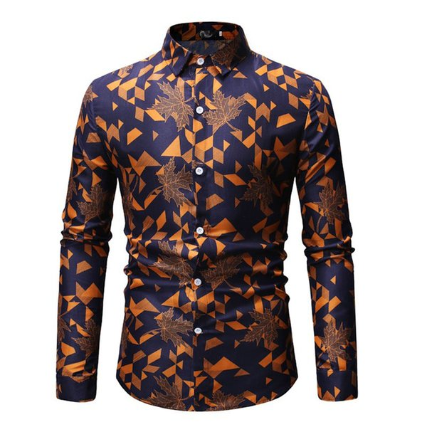 Elegant Men Shirt Party Harajuku Fitness Blouse Plus Size Punk Rock Streetwear Business Dinner Sexy Shirts Male 2019 Clothing