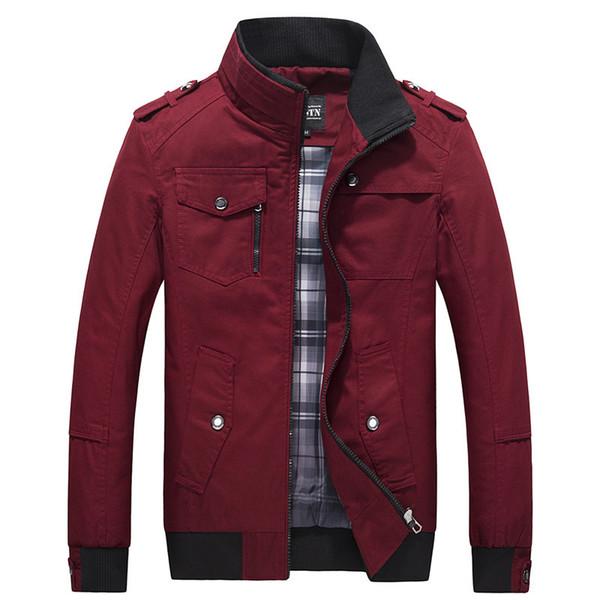 2019 повседневная мужская куртка Весна армейская куртка черный красный мужчины пальто зима Мужская верхняя одежда осень пальто 5XL