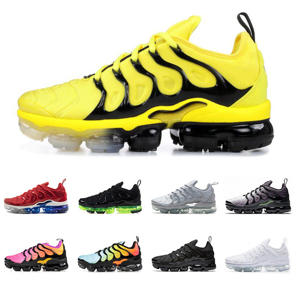 2019 TN plus men women running shoes triple black white BUMBLEBEE Red Shark Tooth USA Grape cool grey mens trainers fashion sports sneakers