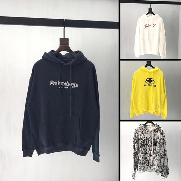 2019 nouvelle arrivée automne mens designer hoodie célèbre marque streetwear coupe ample hommes sweat-shirt de haute qualité coton homme hoodies O