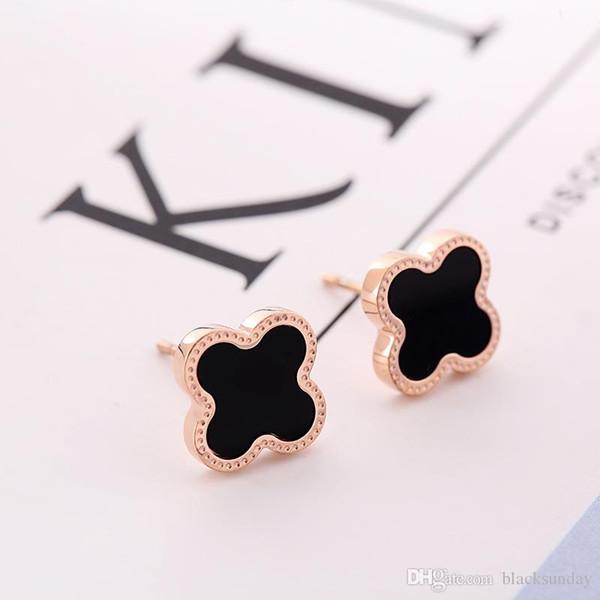 Four-leaf Clover Ear Stud Fashion Women Charm Brand Designer Jewelry Earrings For Girls Valentine Gift Earrings