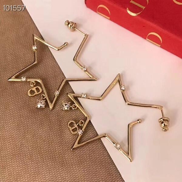 Estrela de cinco pontas das mulheres do parafuso prisioneiro brincos de prata esterlina agulhas hot modelos de transporte design único avant-garde retro beleza essencial