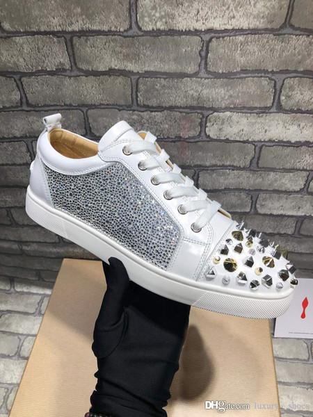 2019 diseño de lujo para hombre zapatos del diseñador de moda de lujo zapatillas de deporte de las mujeres zapatos de baloncesto entrenadores estrella mocasines de época con caja -352
