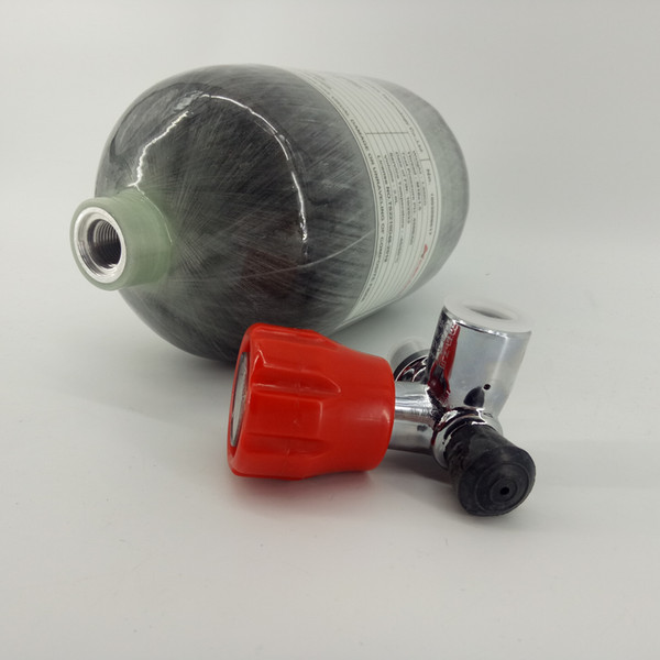 AcecareHigh Quality 2L CE Gas Cylinder 300Bar 4500PSI SCUBA Diving Bottle PCP Airrifle Tank With Red Valve Drop Shipping -Y